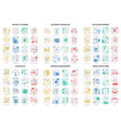 flat thin line abstract icons vector image vector image