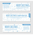 Flyer template with snowflakes vector image vector image