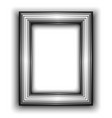 Frame for photo Metal style vector image vector image
