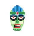 funny ethnic zulu tribal mask showing teeth vector image vector image