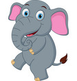 happy elephant cartoon dancing vector image vector image