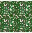 Holiday Christmas seamless background vector image vector image