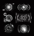 hud interface radar monochrome set vector image vector image
