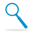 icon of a magnifying glass for website or mobile vector image vector image