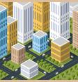 isometric 3d city quarter vector image
