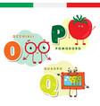 Italian alphabet glasses tomato picture