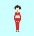 japanese geisha in kimono traditional woman dress vector image