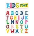 kids font design vector image