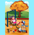 kids playing in playground vector image