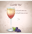 Kir alcohol cocktail vector image vector image