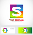 Letter S logo colors vector image vector image