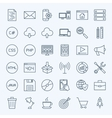 Line Coding Icons vector image vector image