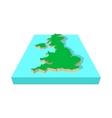 map united kingdom icon cartoon style vector image vector image