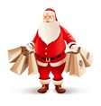 Merry Santa Claus with vector image vector image
