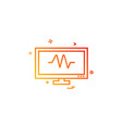 monitor icon design vector image vector image