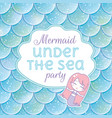 party invitation glittered fish scales kawaii vector image vector image