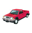 pickup truck vehicle transport 4x4 design vector image