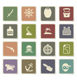 pirates icon set vector image vector image
