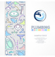 plumbing banner with logo vector image