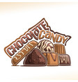 poster for chocolate candy vector image