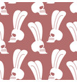 rabbit skull pattern white bunny with skeleton vector image
