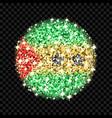 sao tome and principe flag sparkling badge vector image