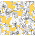 seamless pattern hand drawn outline bouquet vector image