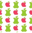 Seamless pattern with green and red apples vector image