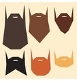set beard silhouettes vector image