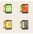 Set of flat interface concept for web and mobile vector image vector image