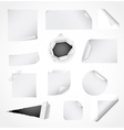 Set of white paper design elements vector image vector image