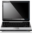 shiny laptop vector image