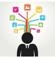 social media word icon stock vector image vector image