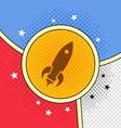 space shuttle rocket vector image vector image