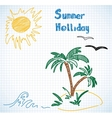 summer holliday doodles vector image
