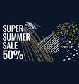 summer sale banner with gold glitter original vector image