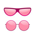 sunglasses icons set pink sun glasses isolated vector image