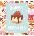 sweet dreams poster or banners vector image vector image