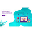 web security concept with character template for vector image vector image