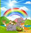 wild animals in nature vector image