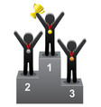 winners on the podium vector image vector image