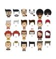 set avatars male faces design vector image
