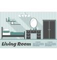 Flat living room interior vector image