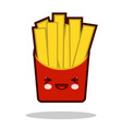funny french fries cartoon character icon kawaii vector image