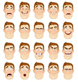 A young man emotions joy sadness hurt shock joy vector image vector image