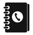 Address book icon simple style vector image vector image