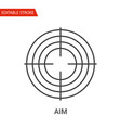 aim icon thin line vector image