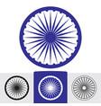 ashoka wheel indian symbol vector image