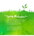 Background with growing sprout vector image vector image