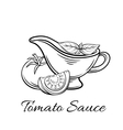 badge tomato sauce Logo food product vector image vector image